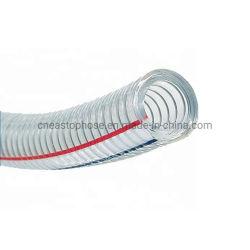 L'Eau Claire industrielle ressort en PVC de carburant en spirale du fil en acier renforcé du tuyau flexible de refoulement en usine