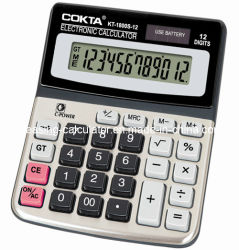 La calcolatrice elettronica per ufficio delle 12 cifre, alimenta il calcolatore solare (KT-1800S)
