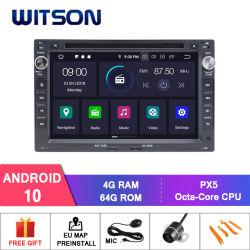مشغل فيديو السيارة Witson Android 10 لـ VW Jetta 1999-2005 بولو (2000-2007) بورا (2000-2009) لعبة غولف 4 (1997-2004) عيد الفصح السيارات B5 الراديو GPS الوسائط المتعددة