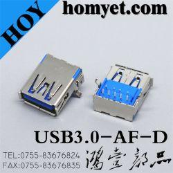USB 3.0 типа гнездовой разъем для компьютерной продукции (USB3.0-AF-D)