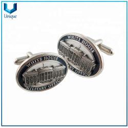 工場卸し売りカスタムは私達にホワイトハウスのロゴを昇進のギフトのための銀の軍のカフスボタン作る