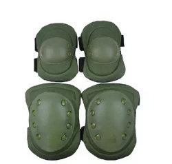 Rilievi tattici di ginocchio e del gomito con colore verde