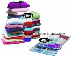真空寝具および衣服のための圧縮された袋の真空スペース袋の真空バッグ