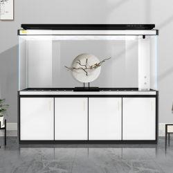 Yee Glass Large Arowana Ecological Landscape Tank Fish Aquarium with Armario base