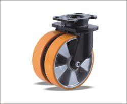 Bas prix de gros de plastique de haute qualité Double roue à roulettes