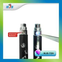 E cigarette TSN EGO batterie avec le bouton de diamant, Look Nobile et luxueux