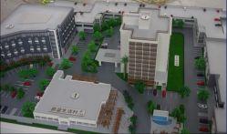 1/150 نموذج معماري من Maquette للمجتمع الحي
