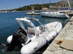 19pieds bateau gonflable 5.8m nervure, bateau de pêche Bateau de sauvetage, le sport pour la vente de Bateau de Moteur