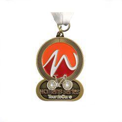 Médaille de métal personnalisée antique Prix Golden médailles Sport Craft