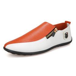Kleur die van het Leer van de Prijs Pu van de fabriek de In het groot Goedkope de Vlakke Schoenen van de Leeglopers van het Comfort voor Mensen aanpassen