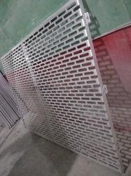 Personalizar el agujero de aluminio perforado solo panel de pared Decoración