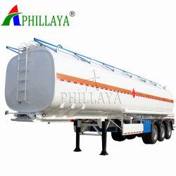 40ft Líquido químico contenedor cisterna semi remolque con el bastidor (05).