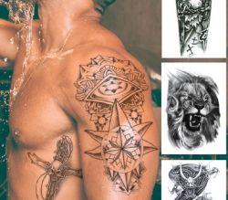 Autoadesivi impermeabili provvisori del tatuaggio dell'ente su ordinazione di personalità