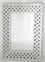 El arte moderno bastidor tejido espejo decorativo espejo de pared para baño