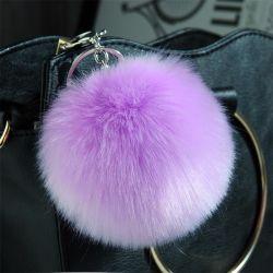 Красочные фальшивый заяц мех мяч мешок и мобильного телефона шарик подвесной поддельные мех цепочки ключей POM POM
