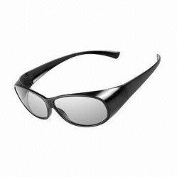 Ficha preta de filmes 3D Filme Livros óculos de TV