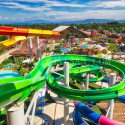Professional откройте спираль Дизайн слайда в аквапарк дизайн и производителя в Китае