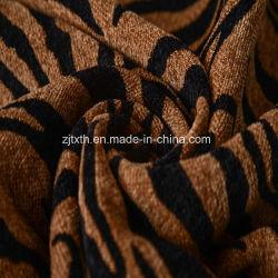 Пункт Chenille Zebra обивка ткань из 100% полиэстера