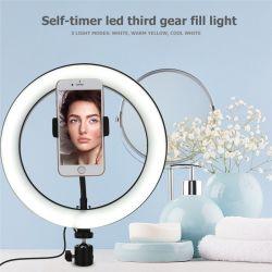 Iluminação fotográfica 10 Polegadas Lâmpada Beleza 96W luz circular LED operados por bateria