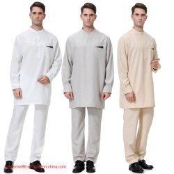 Pantalones de mens de Oriente Medio Abaya Musulmán Árabe Caftan árabe traje de 2 piezas
