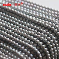 7-8mm 회색 둥근 자연적인 민물 진주 물자 도매 공급자, Zhuji 진주