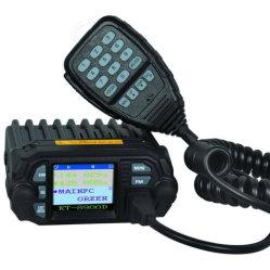 25W Radio de coche Vehículo montado Walkie Talkie 136-174/400-480MHz de doble banda de radio móvil Mini Qyt Kt-8900D