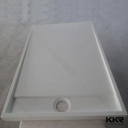 Livro Branco Sanitaryware Superfície sólida base de chuveiro de pedra de resina para banheiro 0807
