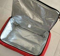 폴리에스테 냉각기 부대, 주문 도매 재사용할 수 있는 휴대용 운반물 420d 600d 폴리에스테 비 길쌈된 화포 PU 음식 병 포도주에 의하여 격리되는 픽크닉 냉각기 어깨에 매는 가방