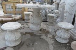Mobiliário de Jardim em mármore e granito de decoração Banquetas Definido
