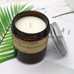 Amber Oil Soy Wax rustiek Home Decor geurkaarsen voor Damescadeau