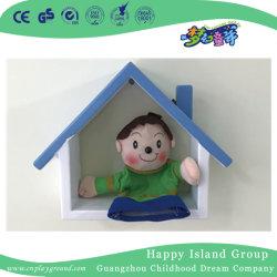 La Decoración de pared pequeña casa de madera de almacenamiento para los niños (HJ-5706)