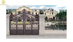 Decorativo colore Power rivestito metallo pressofuso alluminio Garden Gate