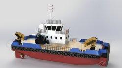 Katamaran 24m baggern ablandig zartes Schleppen und Druck-Boot für Verkauf aus