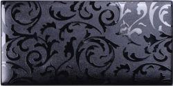 Zwart Glas Bakstenen Muur Papier Patroon Mozaïek Tegel
