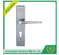 Brushed Ss Hollow Industrial DOOR Lever Handle ON Plate