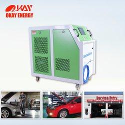 La producción de gas oxhídrico hidrógeno Hho generador de oxígeno para el coche