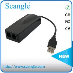 Dispositivo USB 56K Voice Fax Modem externo de dados V. 90 V. 92 com dois conectores RJ11 Portos