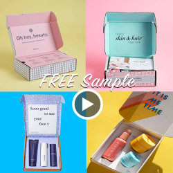 Luxe personnalisé un carton rigide de couleur du papier d'Emballage Emballage expédition boîte cadeau de papier personnalisé pour les vêtements / chaussures / / / Cosmétique cosmétiques Cake / cadeau