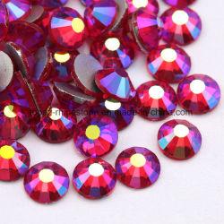 Le lieutenant Siam Ab Nail Rhinestone Non Hotfix Rhinestone Crystal Stone dos plat perles de verre à fond plat (FB-SS16 siam ab)
