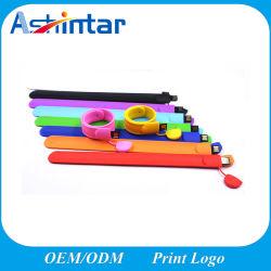 presente de promoção Pulseira Multi-Color Unidade Flash USB Bracelete Customed Cartão USB