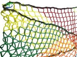 prix d'usine Rainbow Conteneur polyéthylène couleur Knotless Chariot cargo /d'escalade de l'automne arrestation/crochet de sécurité la compensation, le golf net dans les sites de construction, aire de jeux