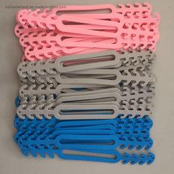 Hebilla de ajuste de la banda elástica de ajuste de reutilizables de bucle en el oído de hebilla de plástico de la correa de hebillas de extensión de la cuerda elástica