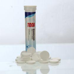 Alto virus efficiente TCCA di uccisione che disinfetta i ridurre in pani effervescenti del cloro