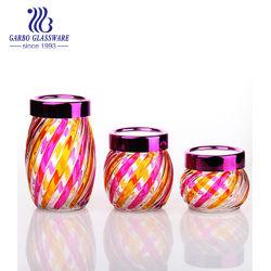 Spray de fantasia hermética de cores 3PCS armazenamento conjunto jarra de vidro tz3-GB2123LX JP2