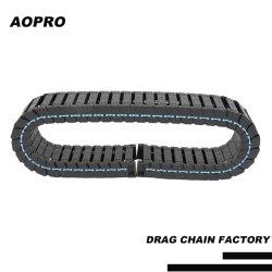 Cable de soporte de plástico de arrastre de la cadena transportadora para la protección del cable máquina CNC