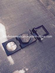 Rete metallica di alluminio rivestita dell'anti della zanzara nero della mosca