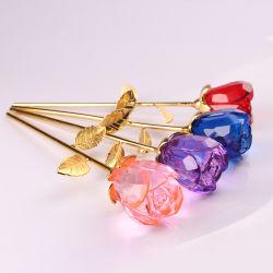 Kundenspezifisches Valentinstag-Geschenk u. Hochzeits-Geschenk-Kristallrosen-Blume