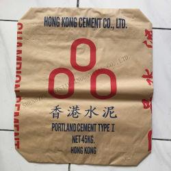 50kg 시멘트 포장 백 크라프트 종이 재료