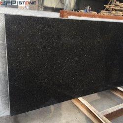 China perla natural para la encimera de granito negro losa Baldosa