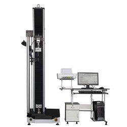 Seule la colonne 5 kn électronique informatisé Dépistage universel de la machine avec les présentoirs et de serrage en carton ondulé extensomètre